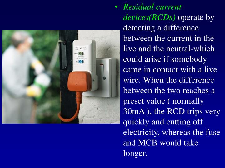 Residual current devices(RCDs)