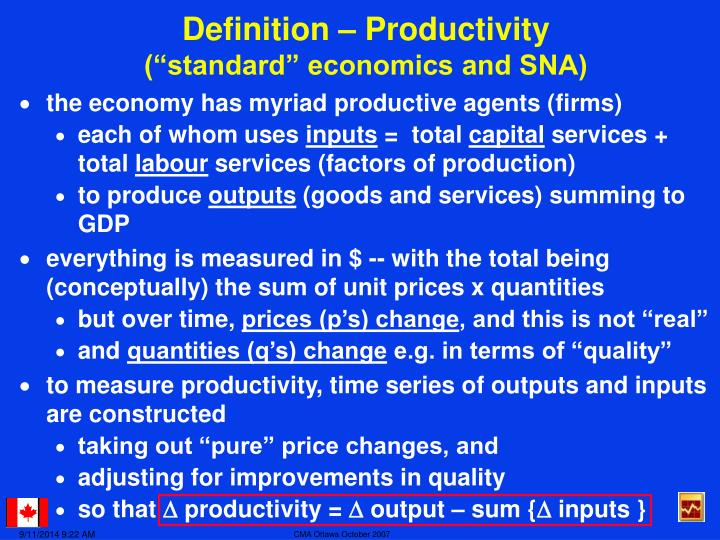 Definition – Productivity