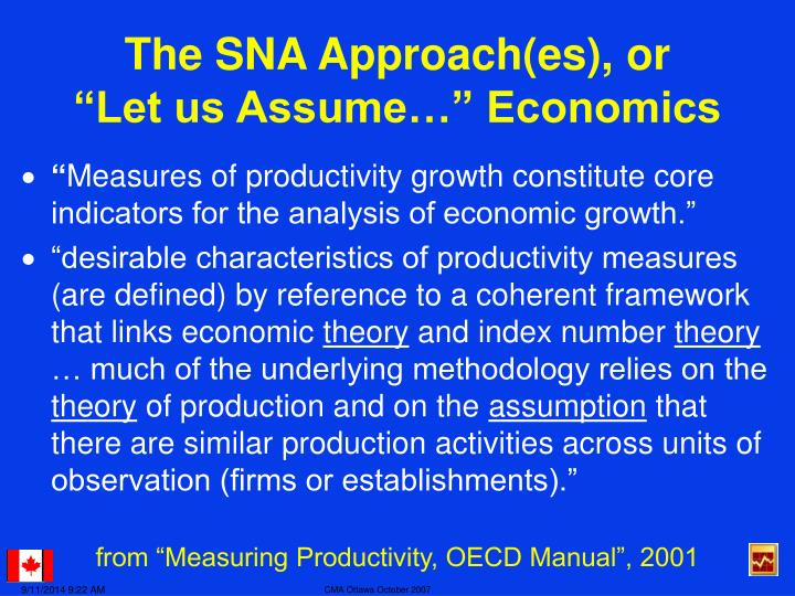 The SNA Approach(es), or