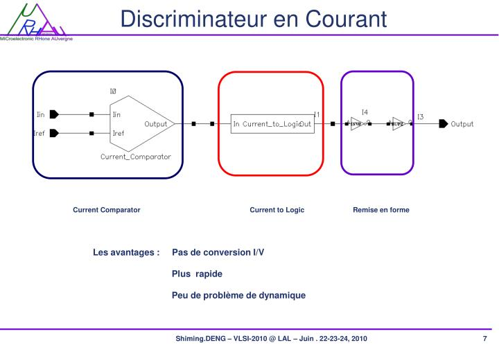 Discriminateur en Courant