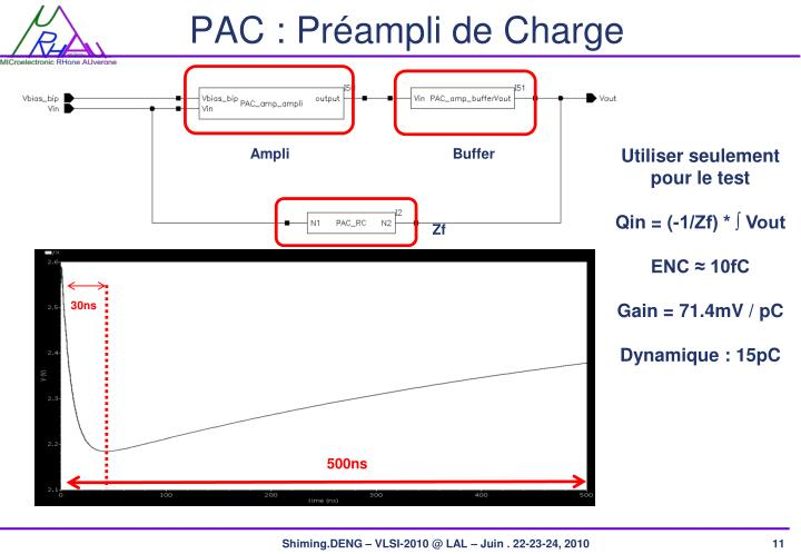 PAC : Préampli de Charge