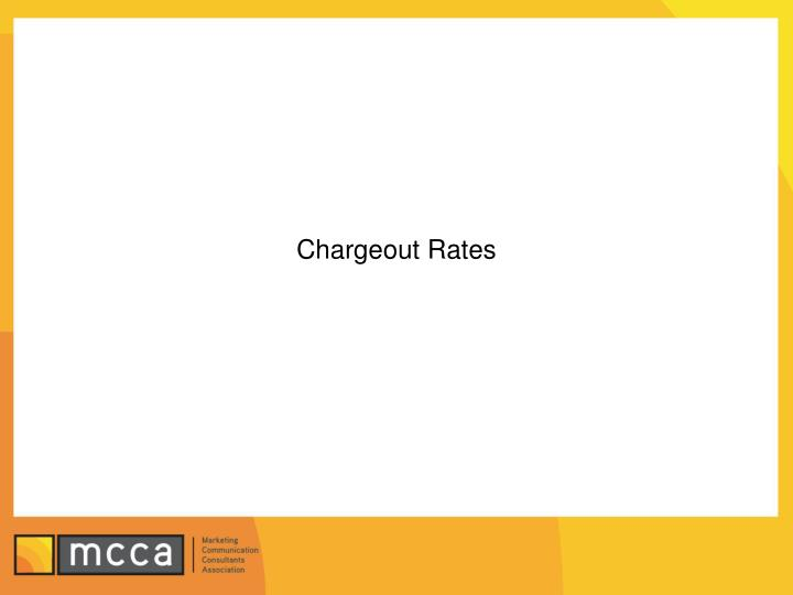 Chargeout Rates