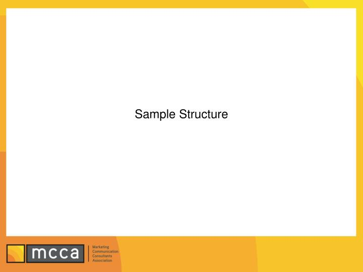 Sample Structure