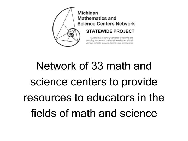Network of 33 math and