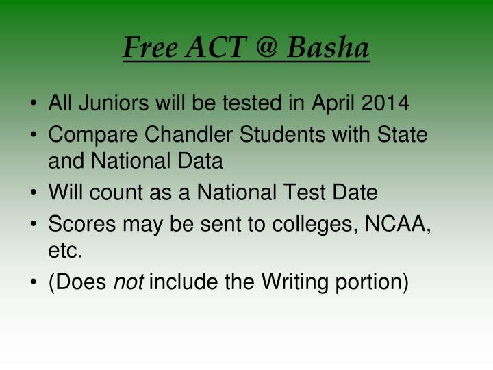 Free ACT @ Basha