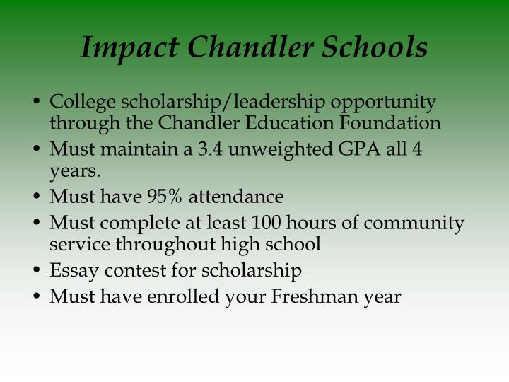 Impact Chandler Schools