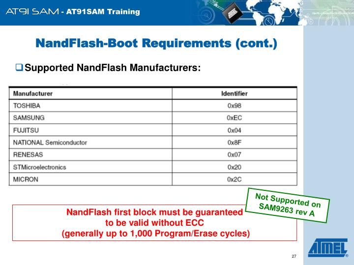NandFlash-Boot Requirements (cont.)