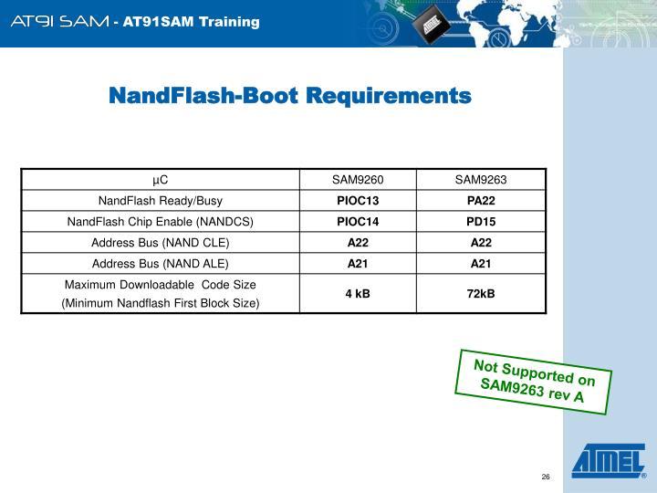 NandFlash-Boot Requirements
