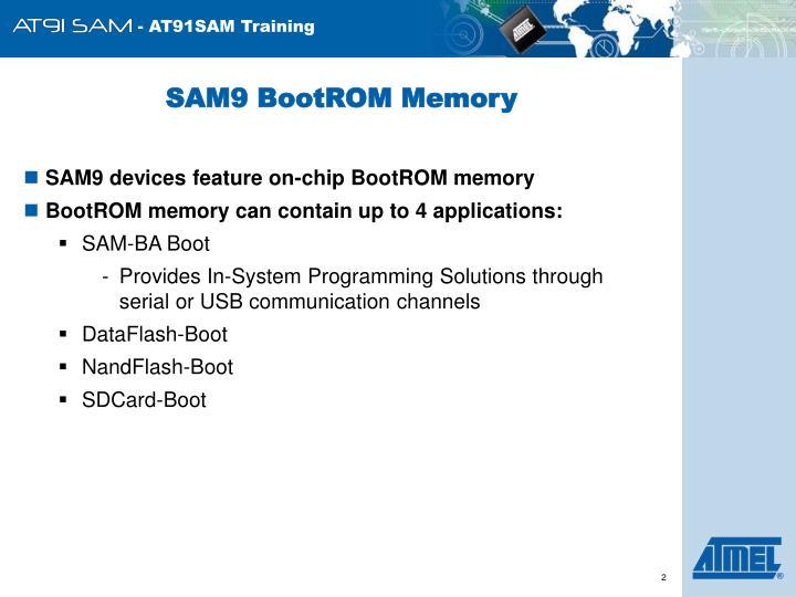 SAM9 BootROM Memory