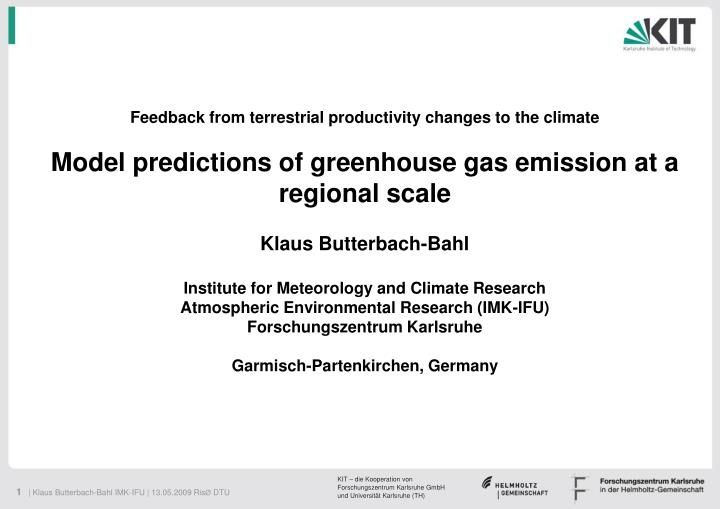 Feedback from terrestrial productivity changes to the climate