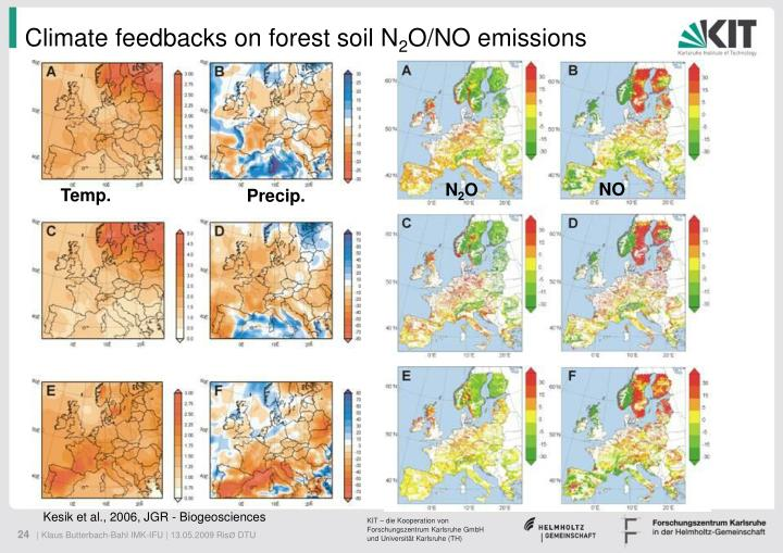 Climate feedbacks on forest soil N