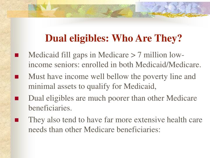 Dual eligibles: Who Are They?