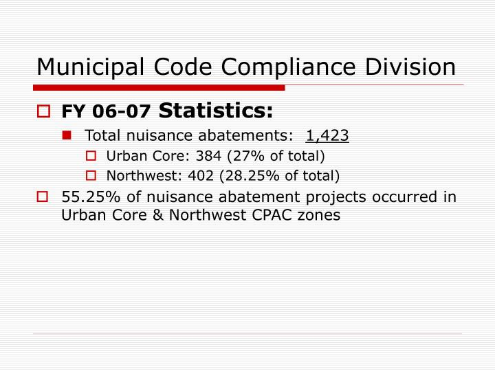 Municipal Code Compliance Division