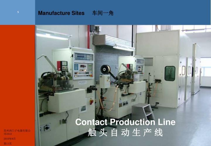 Manufacture Sites