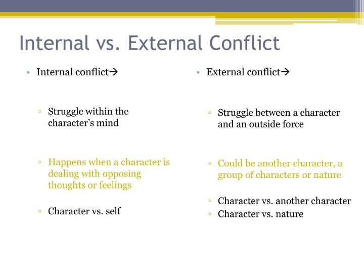 Internal vs. External Conflict