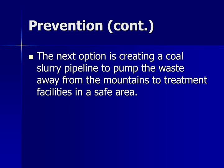 Prevention (cont.)