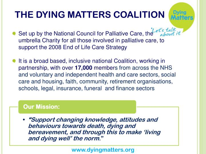 The dying matters coalition
