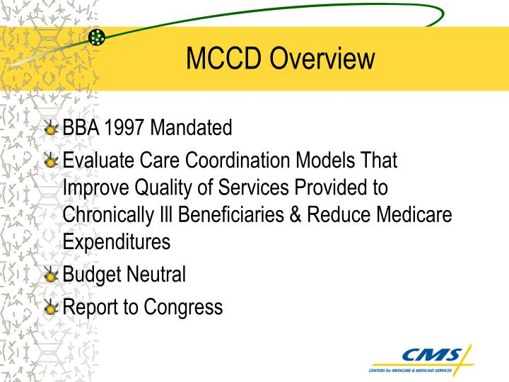 Mccd overview