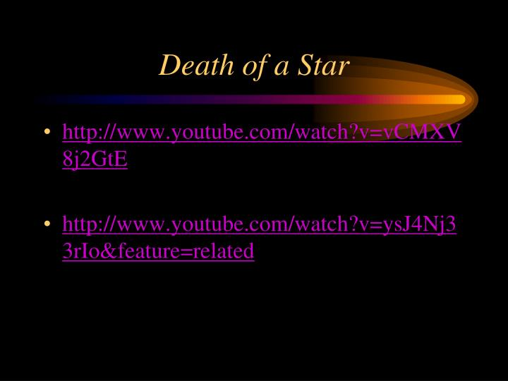 Death of a Star