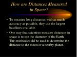 how are distances measured in space
