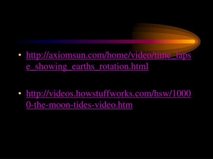 http://axiomsun.com/home/video/time_lapse_showing_earths_rotation.html
