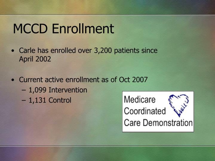 MCCD Enrollment