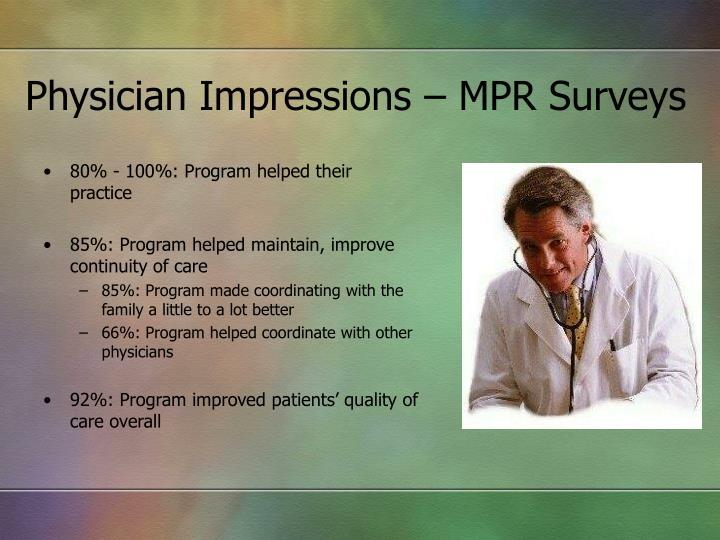 Physician Impressions – MPR Surveys