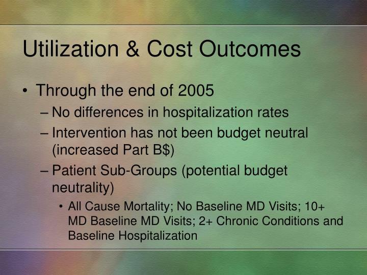 Utilization & Cost Outcomes