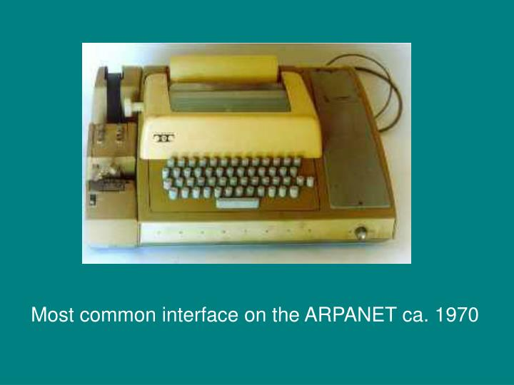 Most common interface on the ARPANET ca. 1970