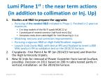 lumi plane 1 st the near term actions in addition to collimation or inj up