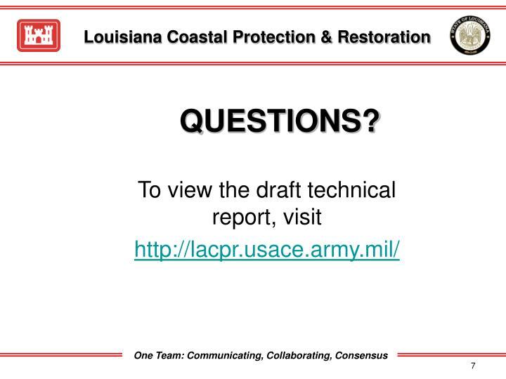 Louisiana Coastal Protection & Restoration