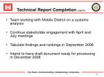 technical report completion con t