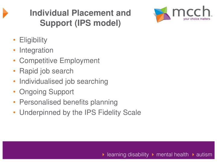 Individual Placement and Support (IPS model)