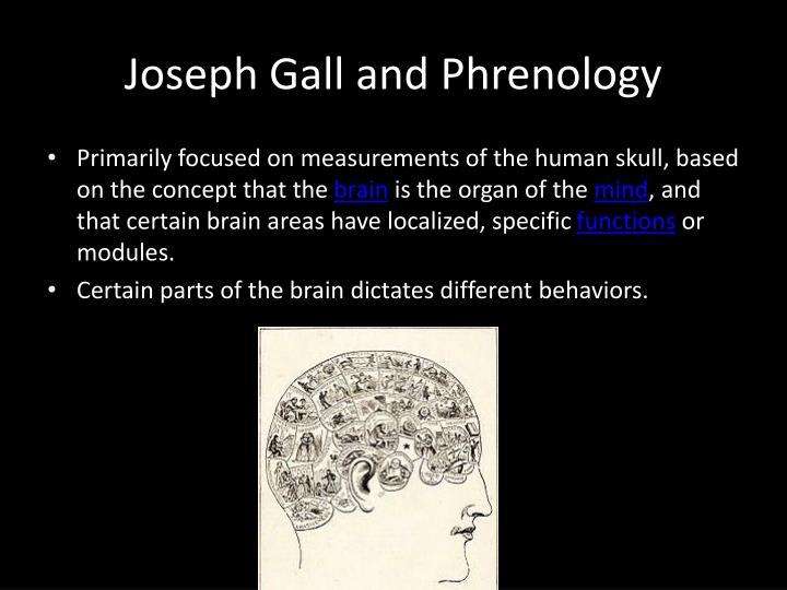Joseph Gall and Phrenology