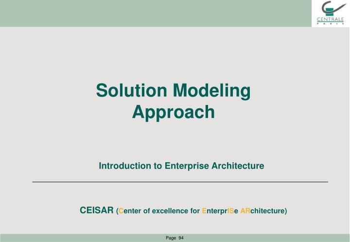 Solution Modeling