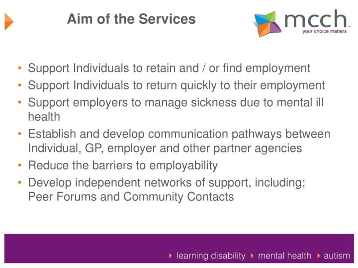 Aim of the Services