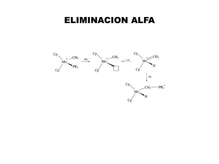 ELIMINACION ALFA