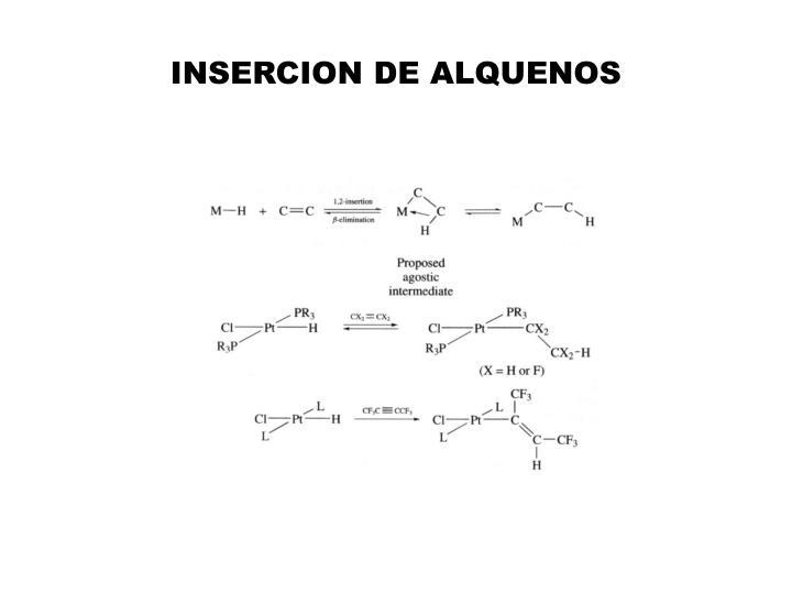 INSERCION DE ALQUENOS