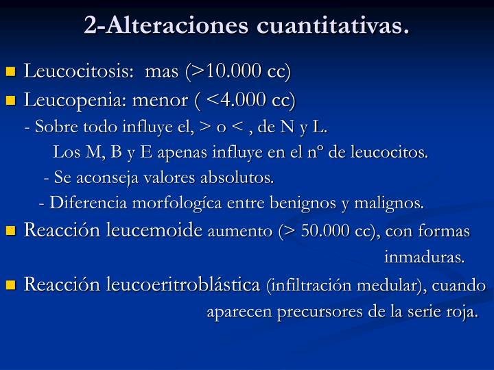 2-Alteraciones cuantitativas.