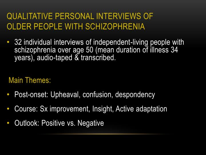 Qualitative Personal Interviews of