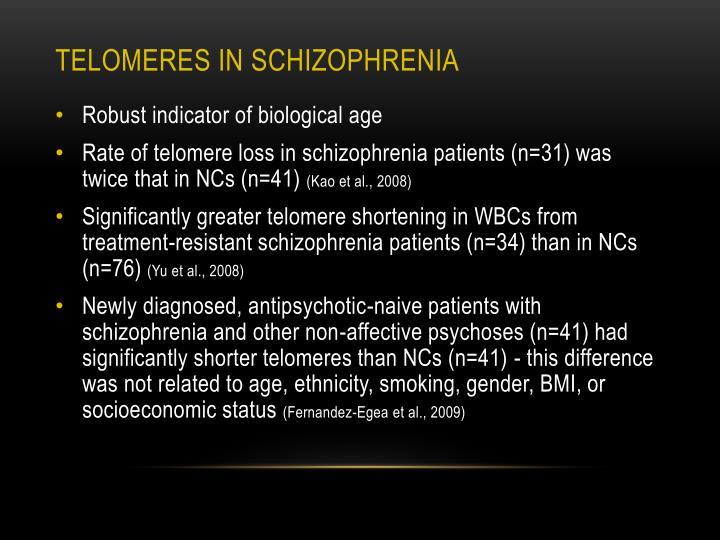 Telomeres in schizophrenia