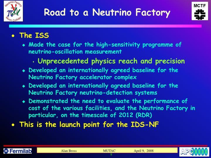 Road to a Neutrino Factory