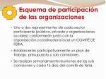 esquema de participaci n de las organizaciones