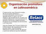 organizaci n promotora en latinoam rica