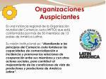 organizaciones auspiciantes