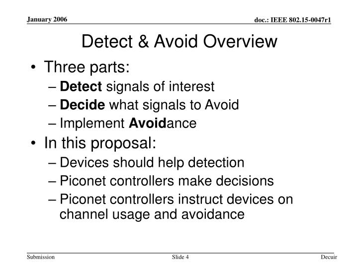 Detect & Avoid Overview