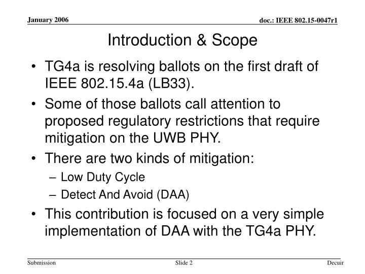 Introduction & Scope