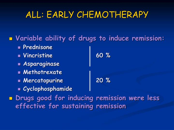 ALL: EARLY CHEMOTHERAPY