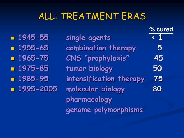 ALL: TREATMENT ERAS