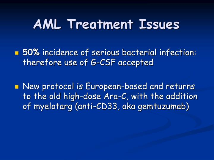 AML Treatment Issues